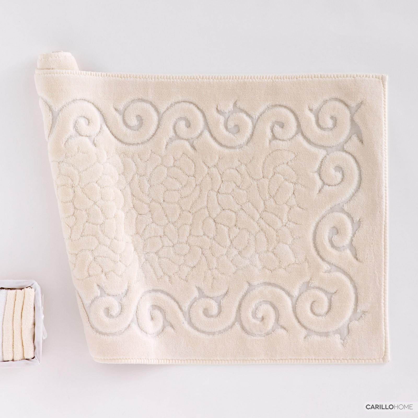 Tris centri intaglio lino bellora colore bianco accessori - Tris tappeti bagno ...