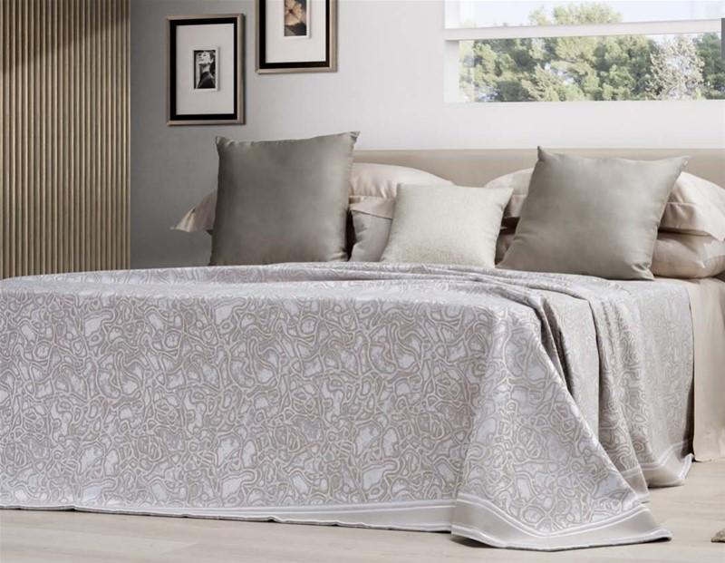 Copriletto Aves matrimoniale colore grigio Moderni Luxury e ...
