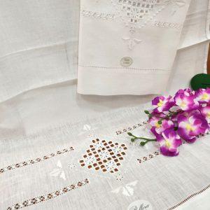 Asciugamani puro lino Bellora ricamo a mano